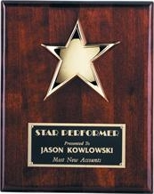4516.9 Piano-finish Rosewood Star Plaque