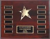 4517.9 piano-finish rosewood Star Perpetual Plaque