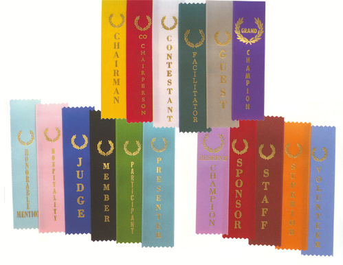 """Complete Set 1st-3rd Ribbons High Quality 2/""""x8/"""""""